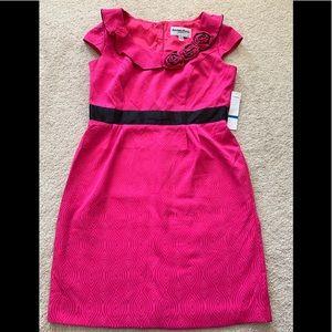 Fuschia sheath dress